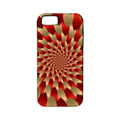 Fractal Red Petal Spiral Apple Iphone 5 Classic Hardshell Case (pc+silicone) by Amaryn4rt