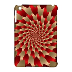 Fractal Red Petal Spiral Apple Ipad Mini Hardshell Case (compatible With Smart Cover) by Amaryn4rt