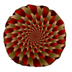 Fractal Red Petal Spiral Large 18  Premium Round Cushions by Amaryn4rt