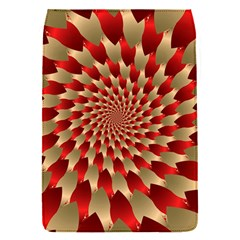 Fractal Red Petal Spiral Flap Covers (s)  by Amaryn4rt
