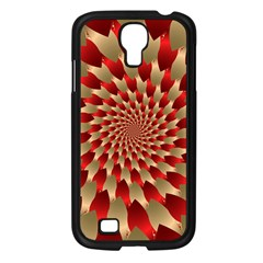 Fractal Red Petal Spiral Samsung Galaxy S4 I9500/ I9505 Case (black) by Amaryn4rt