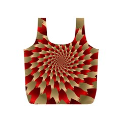 Fractal Red Petal Spiral Full Print Recycle Bags (s)  by Amaryn4rt
