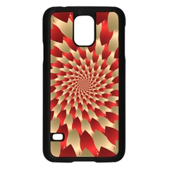 Fractal Red Petal Spiral Samsung Galaxy S5 Case (black) by Amaryn4rt