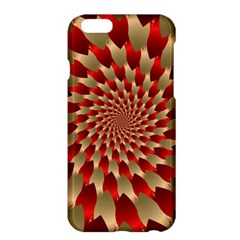 Fractal Red Petal Spiral Apple Iphone 6 Plus/6s Plus Hardshell Case by Amaryn4rt