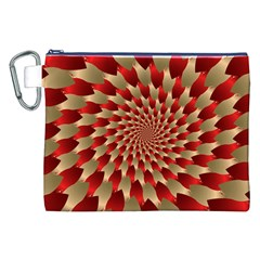 Fractal Red Petal Spiral Canvas Cosmetic Bag (xxl) by Amaryn4rt