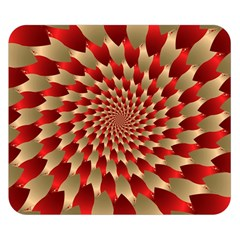 Fractal Red Petal Spiral Double Sided Flano Blanket (small)  by Amaryn4rt