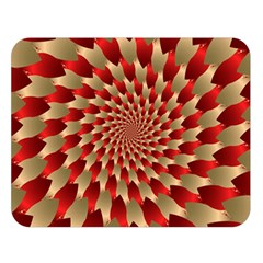 Fractal Red Petal Spiral Double Sided Flano Blanket (large)  by Amaryn4rt