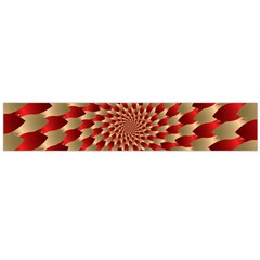Fractal Red Petal Spiral Flano Scarf (large) by Amaryn4rt