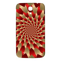 Fractal Red Petal Spiral Samsung Galaxy Mega I9200 Hardshell Back Case by Amaryn4rt