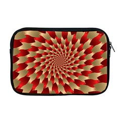Fractal Red Petal Spiral Apple Macbook Pro 17  Zipper Case by Amaryn4rt