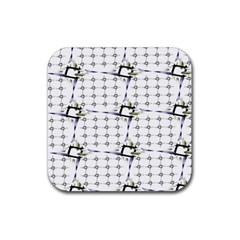 Fractal Design Pattern Rubber Square Coaster (4 Pack)  by Amaryn4rt