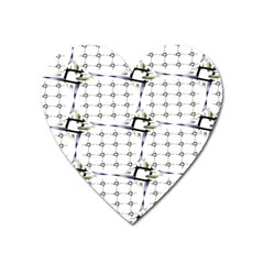 Fractal Design Pattern Heart Magnet by Amaryn4rt