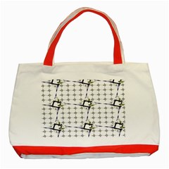 Fractal Design Pattern Classic Tote Bag (red) by Amaryn4rt