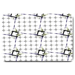 Fractal Design Pattern Large Doormat  by Amaryn4rt