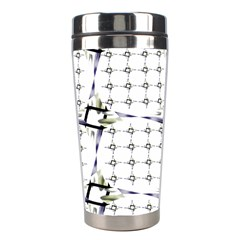 Fractal Design Pattern Stainless Steel Travel Tumblers by Amaryn4rt