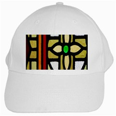 A Detail Of A Stained Glass Window White Cap by Amaryn4rt