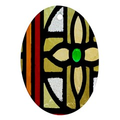 A Detail Of A Stained Glass Window Ornament (oval) by Amaryn4rt