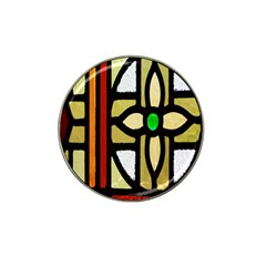 A Detail Of A Stained Glass Window Hat Clip Ball Marker by Amaryn4rt