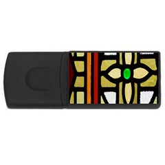 A Detail Of A Stained Glass Window Usb Flash Drive Rectangular (4 Gb) by Amaryn4rt
