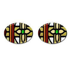 A Detail Of A Stained Glass Window Cufflinks (oval) by Amaryn4rt