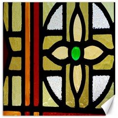 A Detail Of A Stained Glass Window Canvas 16  X 16   by Amaryn4rt