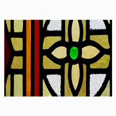 A Detail Of A Stained Glass Window Large Glasses Cloth by Amaryn4rt