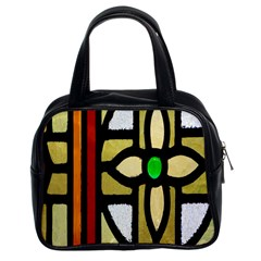 A Detail Of A Stained Glass Window Classic Handbags (2 Sides) by Amaryn4rt
