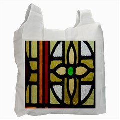 A Detail Of A Stained Glass Window Recycle Bag (two Side)  by Amaryn4rt