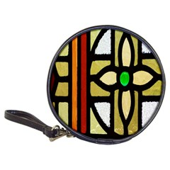 A Detail Of A Stained Glass Window Classic 20 Cd Wallets by Amaryn4rt