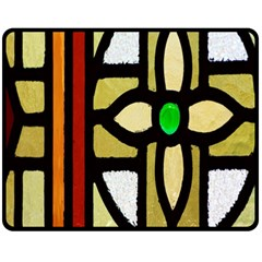 A Detail Of A Stained Glass Window Fleece Blanket (medium)  by Amaryn4rt