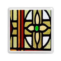 A Detail Of A Stained Glass Window Memory Card Reader (square)  by Amaryn4rt