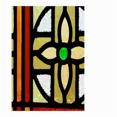 A Detail Of A Stained Glass Window Small Garden Flag (two Sides)