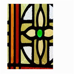 A Detail Of A Stained Glass Window Large Garden Flag (two Sides) by Amaryn4rt