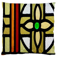 A Detail Of A Stained Glass Window Large Cushion Case (two Sides) by Amaryn4rt