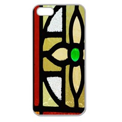 A Detail Of A Stained Glass Window Apple Seamless Iphone 5 Case (clear) by Amaryn4rt