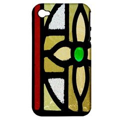 A Detail Of A Stained Glass Window Apple Iphone 4/4s Hardshell Case (pc+silicone) by Amaryn4rt