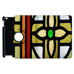 A Detail Of A Stained Glass Window Apple Ipad 2 Flip 360 Case by Amaryn4rt