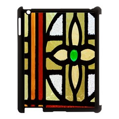 A Detail Of A Stained Glass Window Apple Ipad 3/4 Case (black) by Amaryn4rt