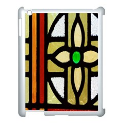 A Detail Of A Stained Glass Window Apple Ipad 3/4 Case (white) by Amaryn4rt
