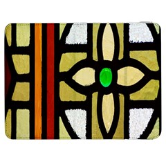 A Detail Of A Stained Glass Window Samsung Galaxy Tab 7  P1000 Flip Case by Amaryn4rt