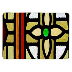 A Detail Of A Stained Glass Window Samsung Galaxy Tab 8 9  P7300 Flip Case by Amaryn4rt