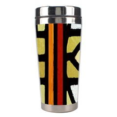 A Detail Of A Stained Glass Window Stainless Steel Travel Tumblers by Amaryn4rt