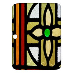 A Detail Of A Stained Glass Window Samsung Galaxy Tab 3 (10 1 ) P5200 Hardshell Case  by Amaryn4rt