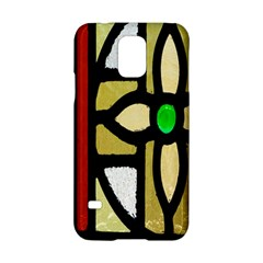 A Detail Of A Stained Glass Window Samsung Galaxy S5 Hardshell Case  by Amaryn4rt