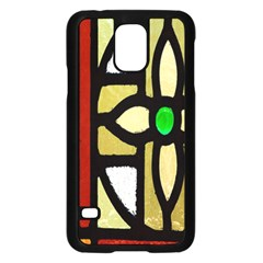 A Detail Of A Stained Glass Window Samsung Galaxy S5 Case (black) by Amaryn4rt