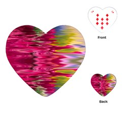 Abstract Pink Colorful Water Background Playing Cards (heart)  by Amaryn4rt