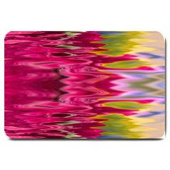 Abstract Pink Colorful Water Background Large Doormat  by Amaryn4rt