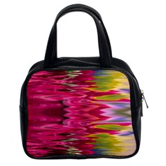 Abstract Pink Colorful Water Background Classic Handbags (2 Sides) by Amaryn4rt