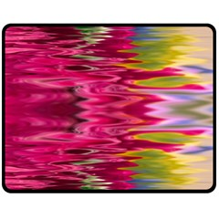 Abstract Pink Colorful Water Background Fleece Blanket (medium)  by Amaryn4rt