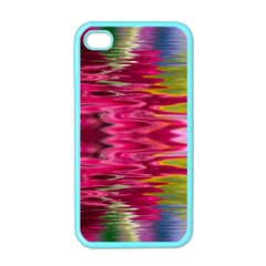 Abstract Pink Colorful Water Background Apple Iphone 4 Case (color) by Amaryn4rt